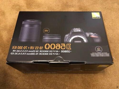 Nikon DSLR Camera Kit Lenses Box NOT REFURB SD
