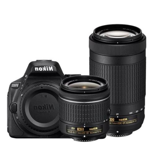 d5600 dslr camera kit with two zoom