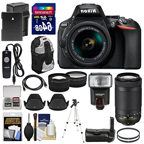 Nikon D5600 Wi-Fi Digital SLR Camera with 18-55mm VR & 70-30