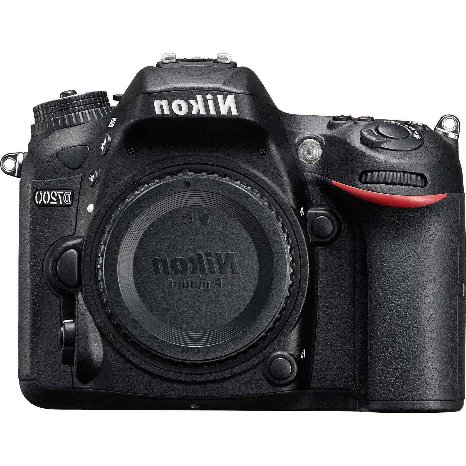 Nikon D7200 24.2MP Black DSLR Camera Body Only
