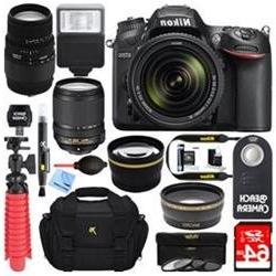 Nikon D7200 Black Digital SLR Camera with 18-140mm VR & 70-3