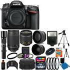 Nikon D7200  DSLR Camera 9 Lens 18-55 VR +70-300 +500MM + 32