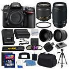 Nikon D7200 Digital SLR Camera + 4 Lens Kit: 18-55mm VR + 70