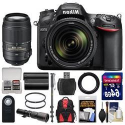 Nikon D7200 Wi-Fi Digital SLR Camera & 18-140mm VR DX & 55-3