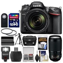 Nikon D7200 Wi-Fi Digital SLR Camera & 18-140mm VR DX & 70-3