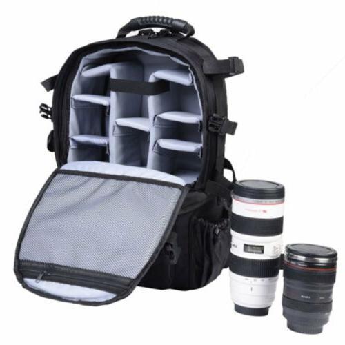 Deluxe camera Backpack Bag Case Canon DSLR SLR BLACK Multifunctional H