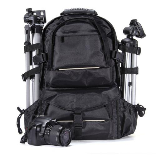 Deluxe Camera Backpack Bag Case for Sony Canon Nikon DSLR SL