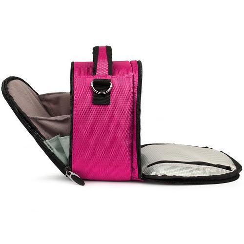 Vangoddy PInk DSLR SLR Bag, Laurel Luxury Design For Canon or Professional Unique Fit