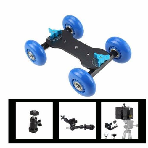Desktop DSLR Video Wheels Rail Slider Dolly Glide