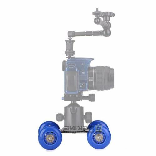 Desktop Camera Wheels Slider Glide