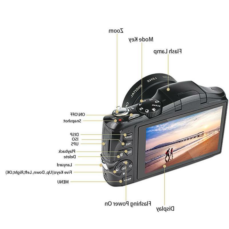 Digital Screen HD 20x Zoom CMOS SLR Camera