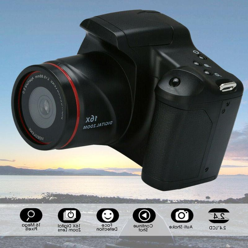 Digital SLR Camera 2.4'' TFT LCD Screen 1080P 16X Zoom Lens