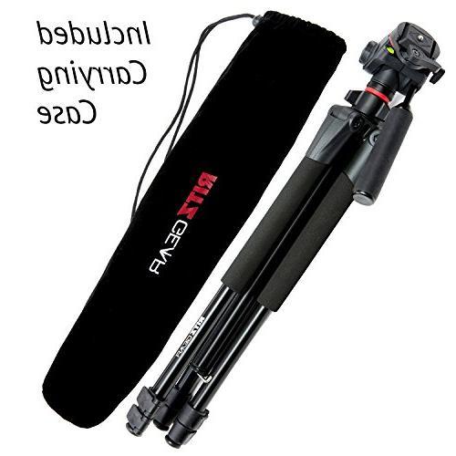 "Ritz Panasonic Digital Single Camera mm Kit 4K, Polaroid 64GB, Polaroid 72"" Professional Set, Battery, Bag and Extras,Black,Deluxe"