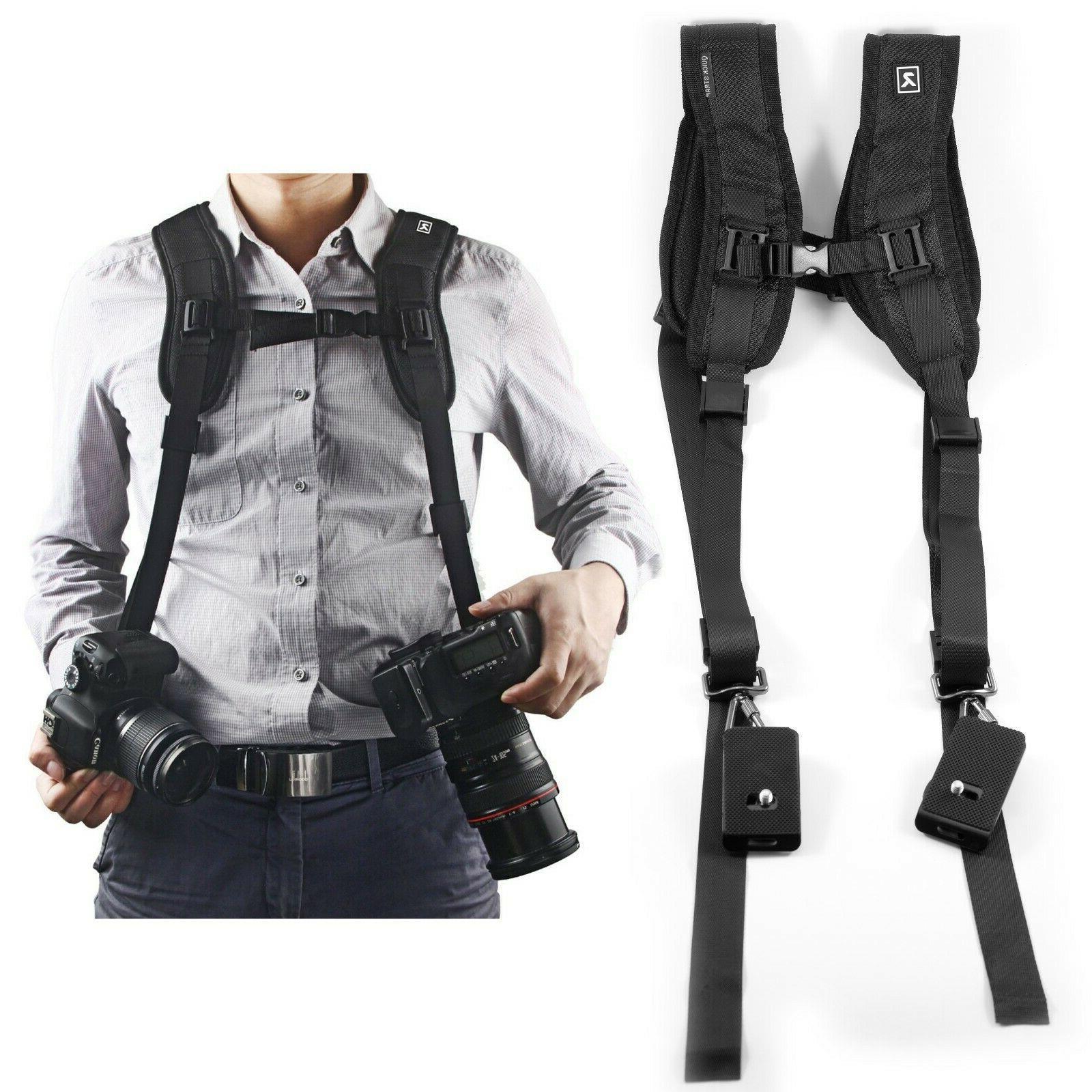 double dual shoulder quick release belt sling