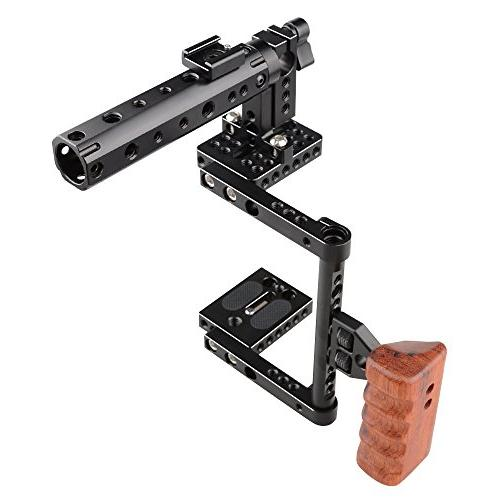 CAMVATE DSLR Cage Top Wood Grip for 600D