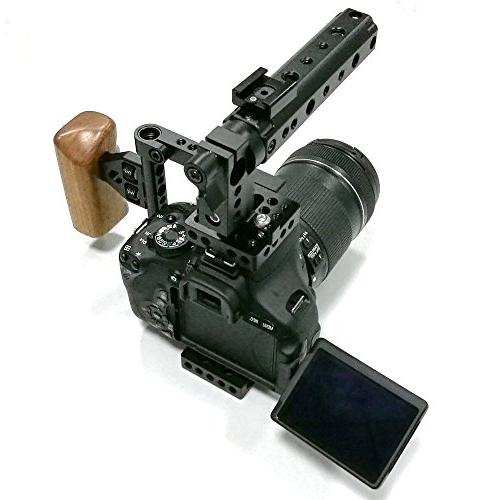 dslr cage handle wood grip