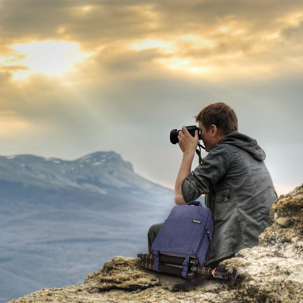 DSLR Camera Shoulder Bag Compact Waterproof Nikon Sony