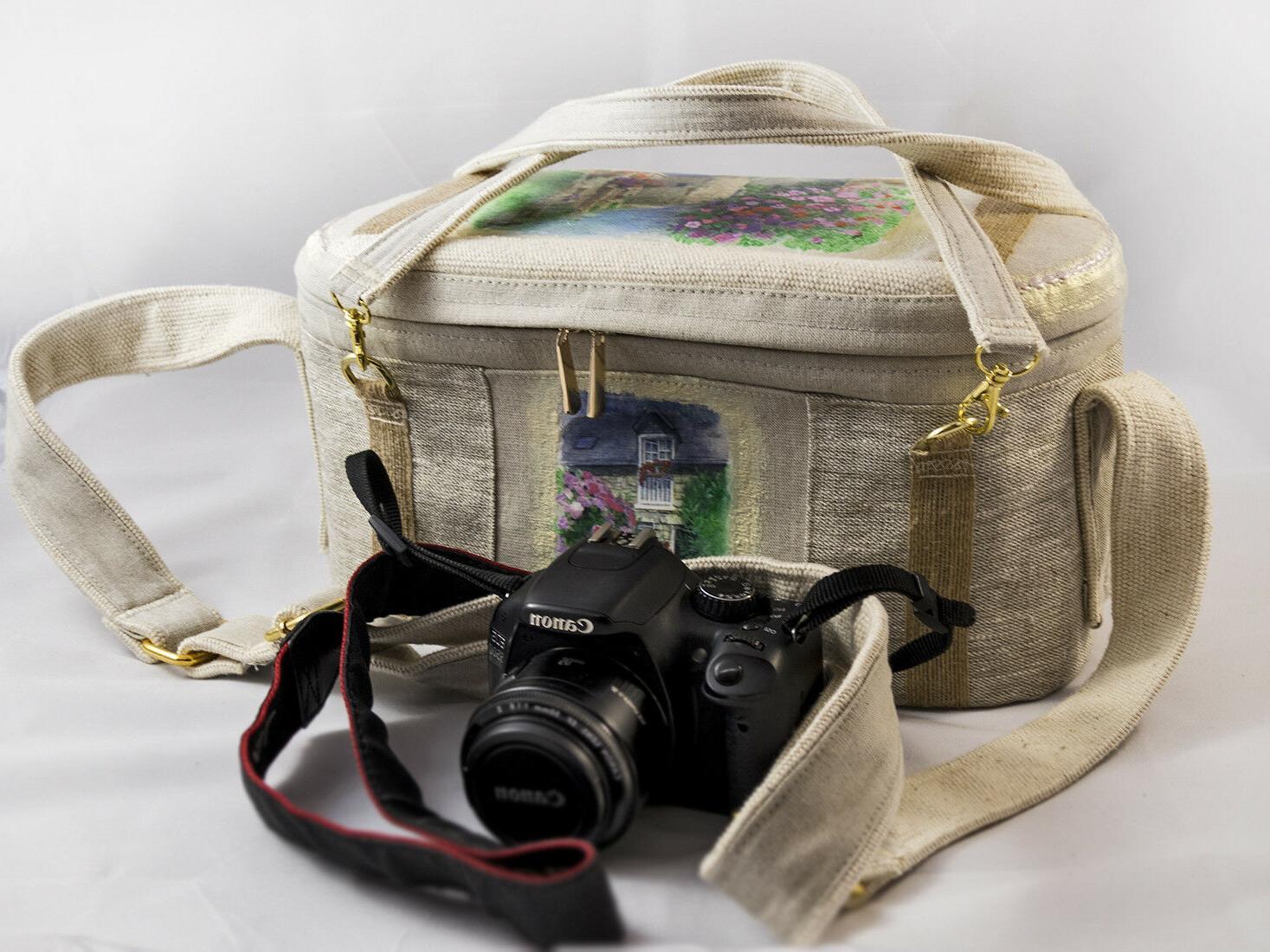 Handmade Dslr Camera Bag for Canon with insert Large OOAK
