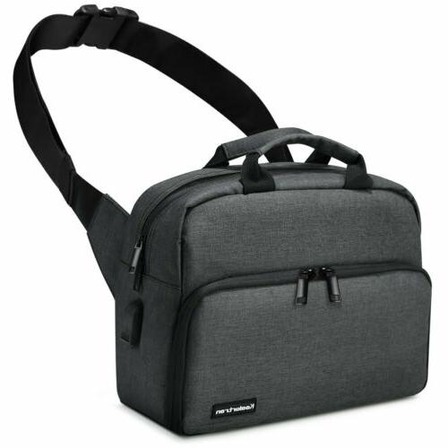 Koolertron DSLR Sling Carry Bag Case Shoulder Bag Satchel Bag