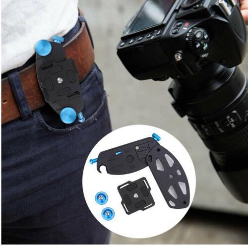 DSLR Camera Belt Mount Adapter Release Waist Belt Holder