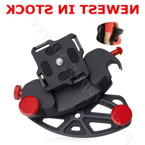 dslr camera belt buckle mount clip adapter