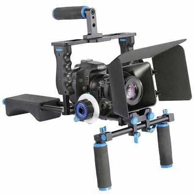 DSLR Cage Rig Shoulder Follow Focus Video