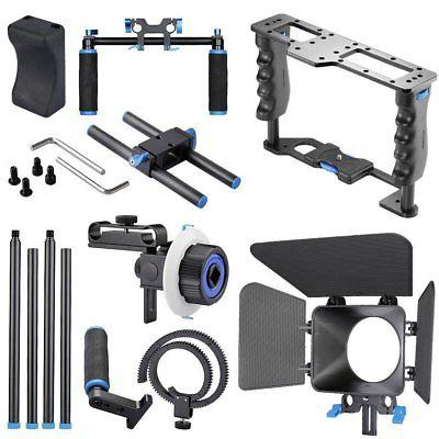 DSLR Camera Shoulder Mount Matte Box Follow Video