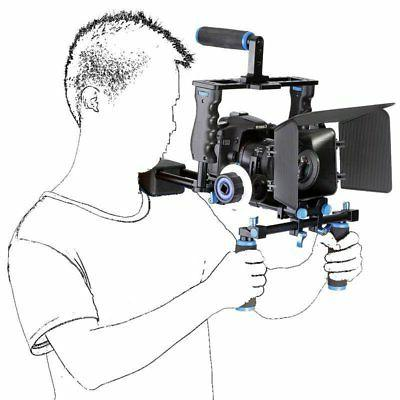 dslr camera cage rig shoulder mount matte