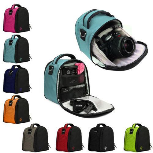 dslr camera shoulder messenger bag carry case
