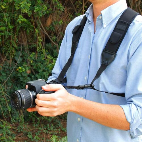 USA Strap Harness with Black Neoprene Pattern Pockets