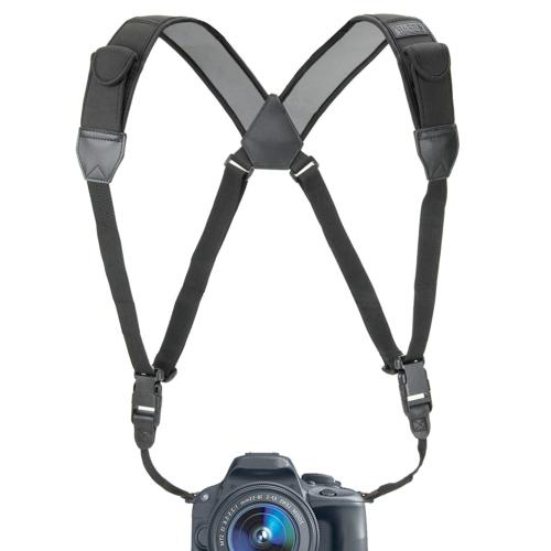 dslr camera strap chest harness with black