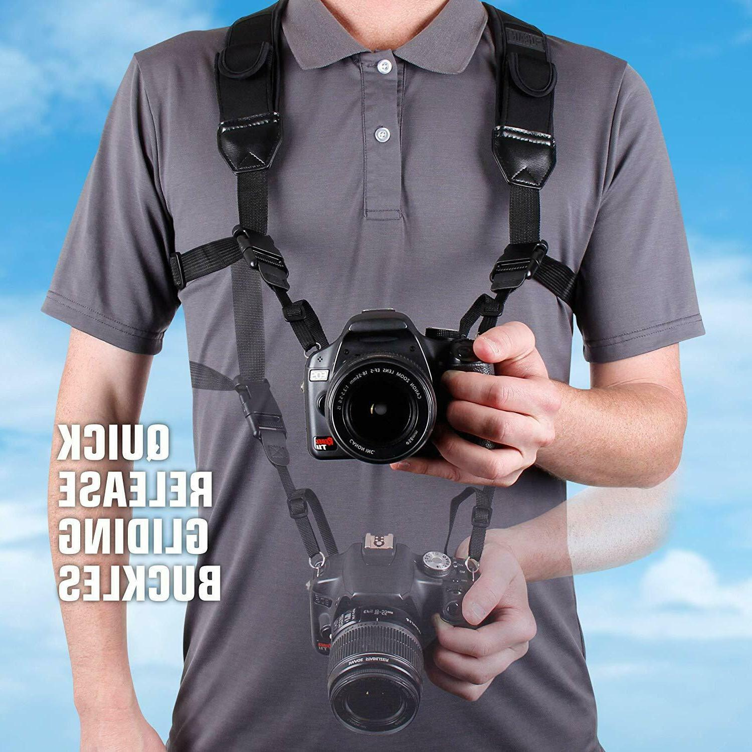 dslr camera strap chest harness