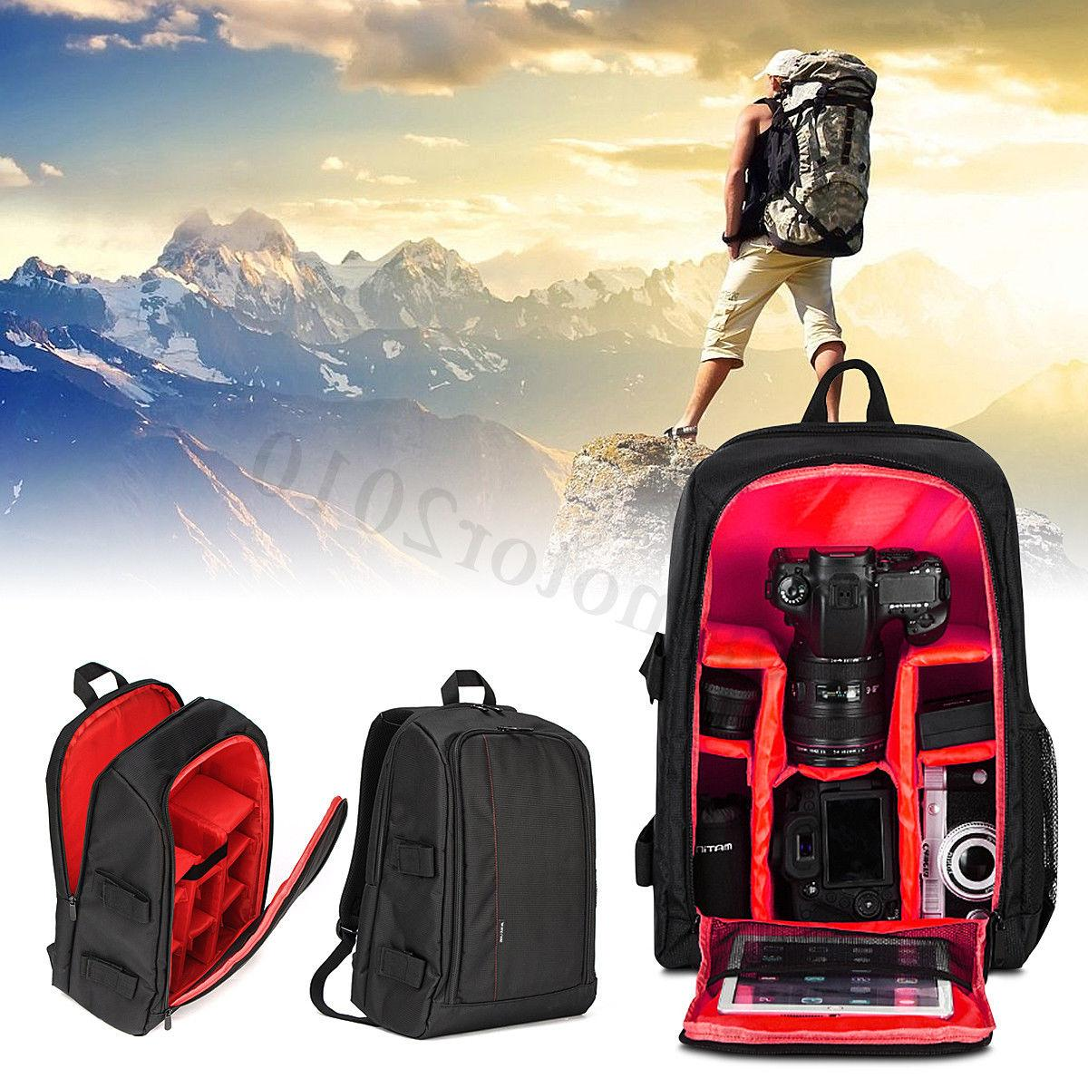 DSLR Camera Waterproof Backpack Shoulder Bag Canon For