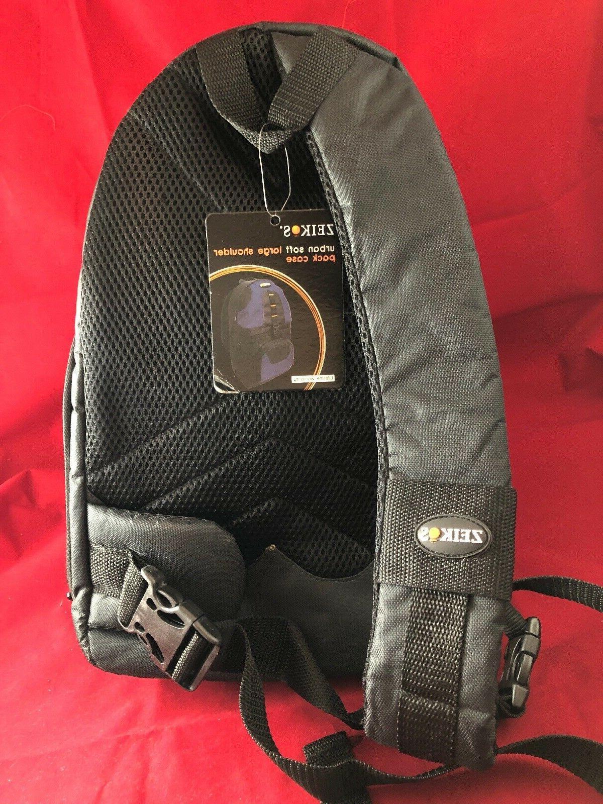 Zeikos Bag w/ ShoulderStrap Navy Blue/ Black NEW