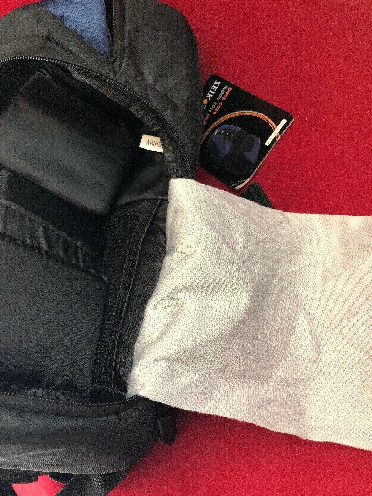 Zeikos DSLR Large Bag Pack ShoulderStrap Navy Blue/ NEW
