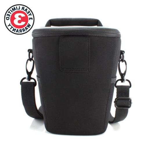 USA Gear Top Travel DSLR Case Bag for Nikon with Adjustable Dividers and Works With D500, D7200 and