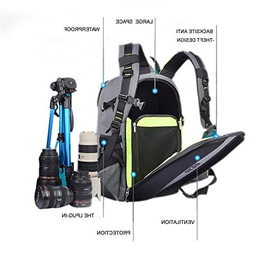 Abonnyc SLR Backpack Rucksack Bag Shockproof Nikon Sony Panasonic Pentax and