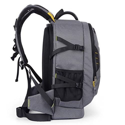 Abonnyc Backpack Rucksack Bag Shockproof Nikon Pentax and Accessories,Grey