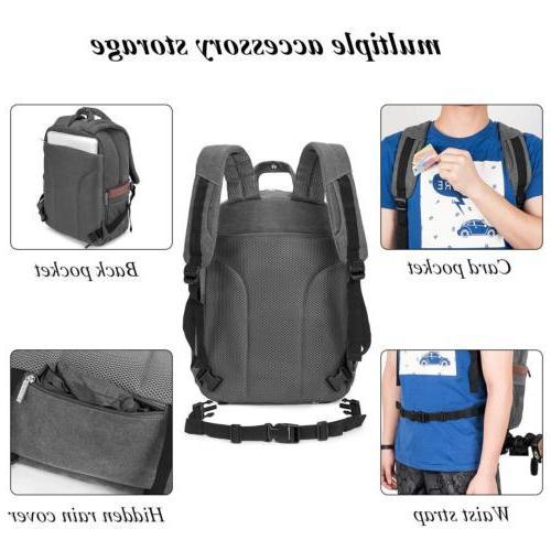 DSLR/SLR Backpack Waterproof Tablet Laptop Bag for Women Men
