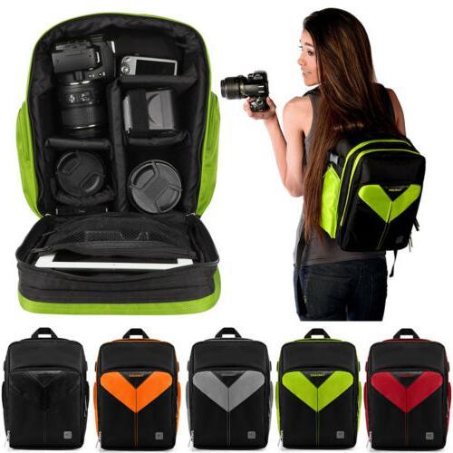 dslr slr camera lens backpack carry case