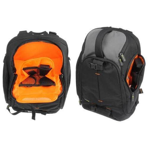 Professional DSLR Camera/Laptop Case Bag w/Raincover & Handle