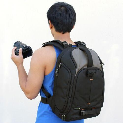 Professional Camera/Laptop Backpack w/Raincover Handle