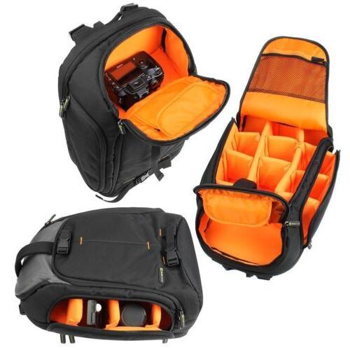 Professional Large DSLR Camera/Laptop Bag Backpack w/Raincover