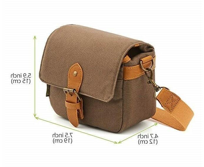 Evecase DSLR/SLRSmallNylonShoulder Case Camera Bag