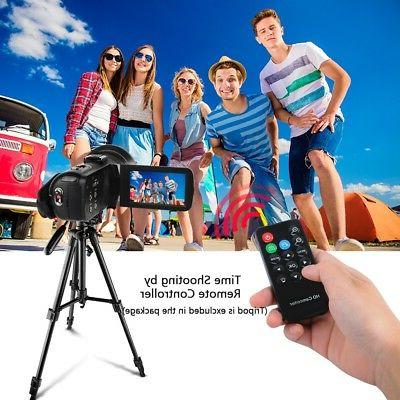 DSLR Video Digital Camera HDMI 1080P Waterproof DV Camcorder Microphone