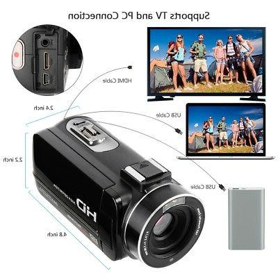 DSLR Video Camera HDMI Ultra HD Waterproof DV Microphone