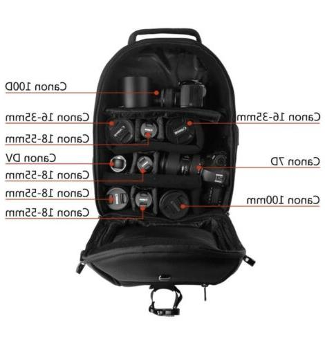DSLR PROWELL Water Resistant Travel Outdoor Backpack for Cam