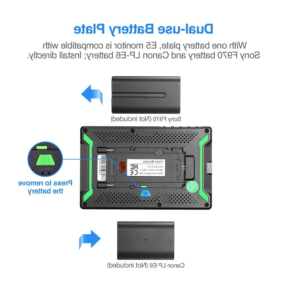 Eyoyo 4K <font><b>HDMI</b></font> <font><b>Camera</b></font> Monitor Bright 400cd/m2 Full IPS for Outdoors
