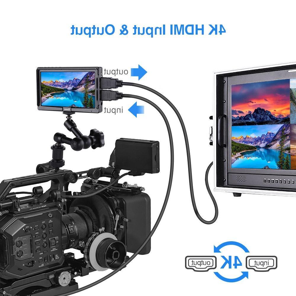 Eyoyo E5 <font><b>HDMI</b></font> <font><b>DSLR</b></font> Monitor Full HD IPS Outdoors
