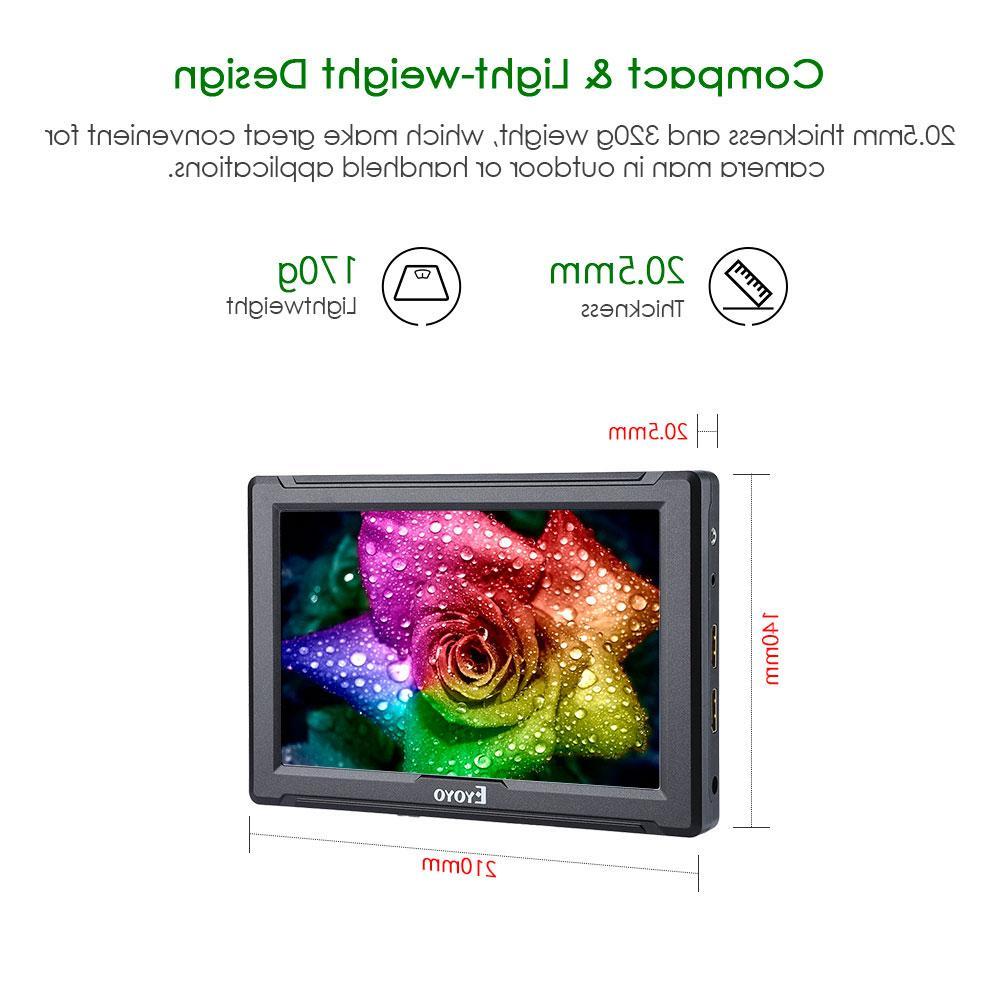 E7S Inch 4K <font><b>HDMI</b></font> <font><b>DSLR</b></font> Field Monitor Full HD IPS Canon Nikon